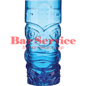 Стакан д/коктейлей, стекло «Тики» синий в Пензе