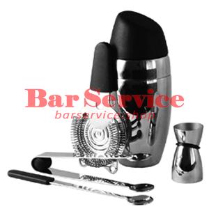 Набор барменский 5 предметов, черный  в Пензе